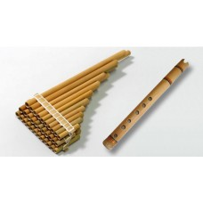 Set: Professional Chromatic Malta Zampoña 9-10-11 and Bamboo Quena