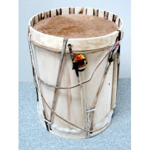 """Bombo with Mallet and Drumstick - 14"""""""