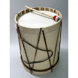 Bombo with Mallet and Drumstick - 16""