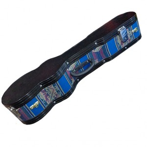 Charango Hard Case with Aluminum Border and Blue Awayo