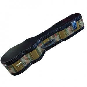 Charango Hard Case with Aluminum Border and Brown Awayo