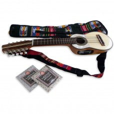 Electroacoustic Professional Charango + Soft Case + 2 Set of Strings