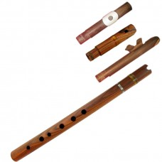 Professional Rosewood Quena / Pinquillo / Traverse /Cherokee - Multiple Mouthpieces