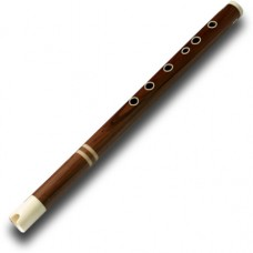 Professional Rosewood MAMA Quena/Quenacho with Bone Mouthpiece & Fingerholes and Bone Rings