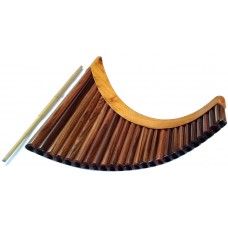 Rosewood Professional Pan Flute - Adjustable Tuning
