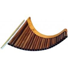 Rosewood Professional Pan Flute - Adjustable Tuning