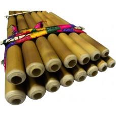 Professional Toyo Zampoña 7-8  - Jacha Siku - Extra Thick Bamboo